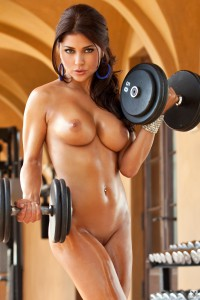 Arianny Celeste nude in the gym!